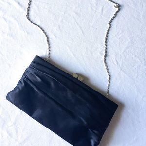 Lulu Townsend black shoulder clutch